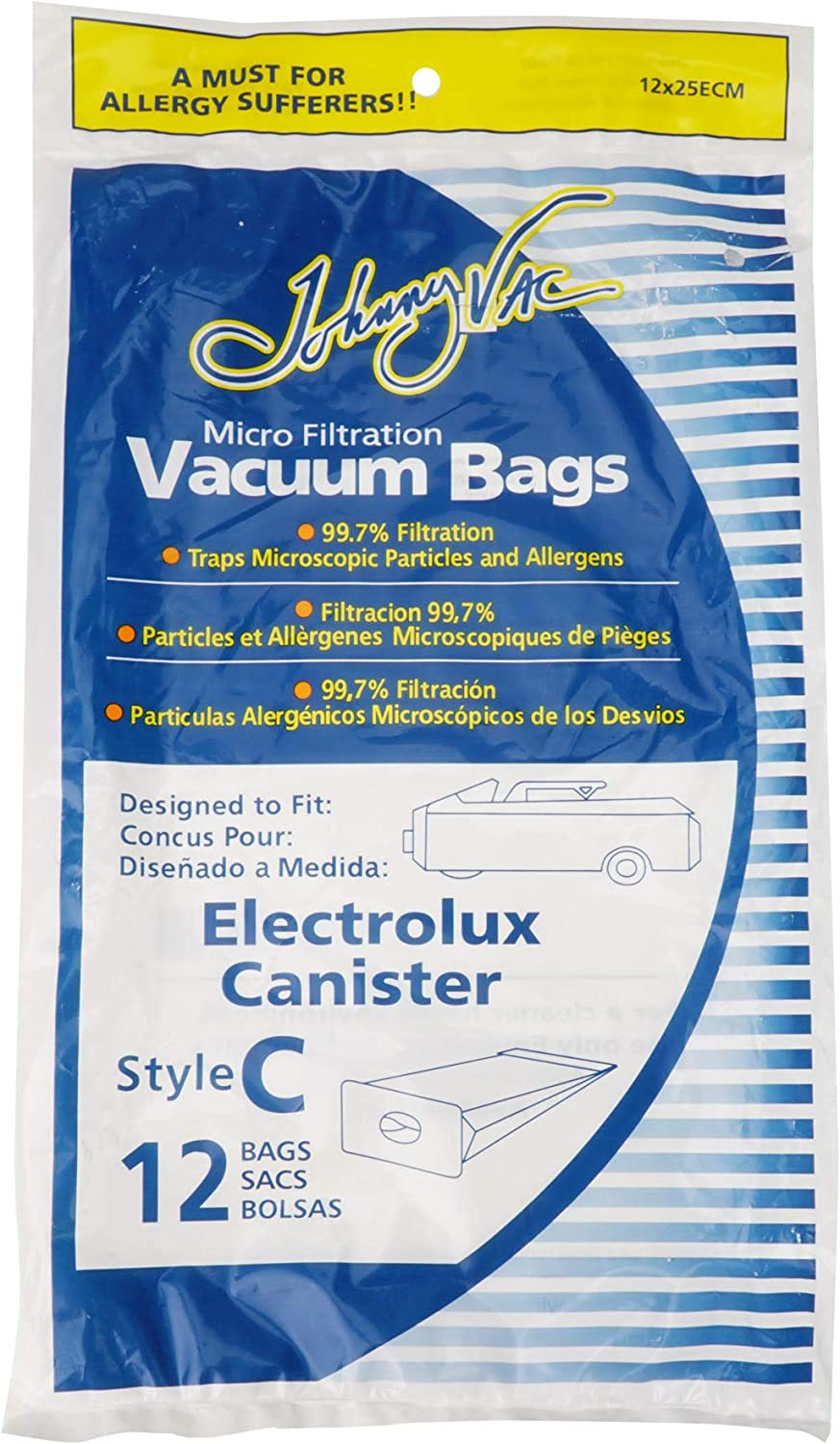 12 Electrolux Allergy canister Tank Style C vacuum bags