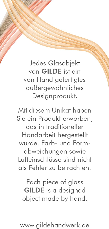 GILDE GLAS ART 39991 Vase d/écoratif Palude Vert dor/é sur un support m/étallique noir Hauteur 49 cm Largeur 11 cm Profondeur 47 cm