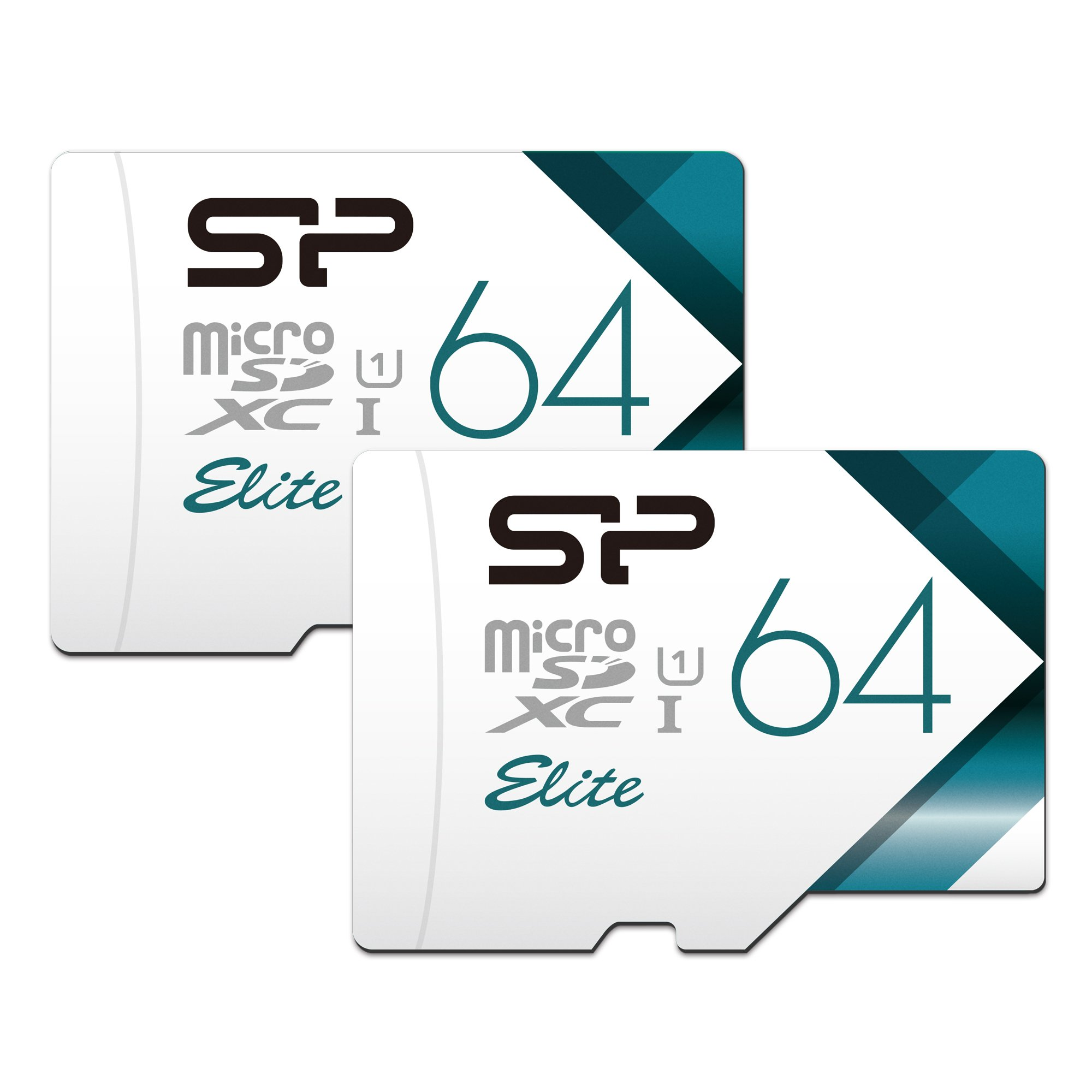 Silicon Power 64GB 2-Pack High Speed MicroSD Card with Adapter