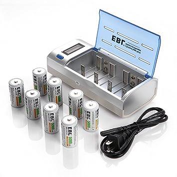 Amazon.com: EBL® E906 upated Cargador de batería universal ...