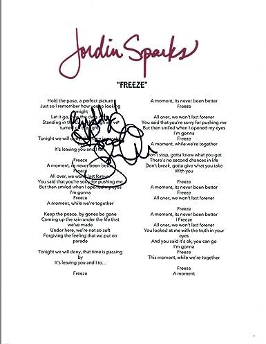 Jordin Sparks Signed Autographed