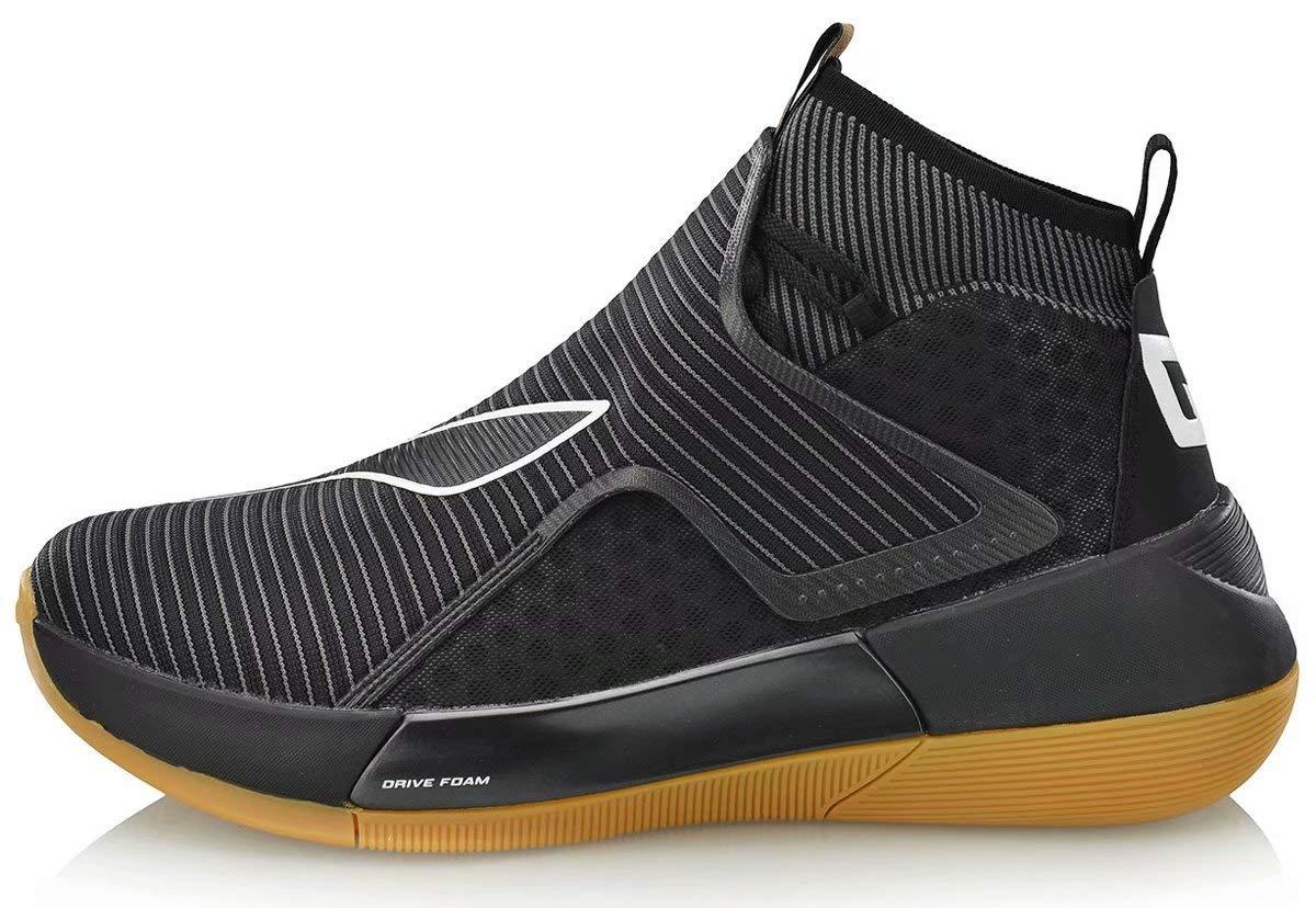 LI-NING YUSHUAI XII Men Professional Basketball Shoes Breathabl High-top Sport Shoes Sneakers Black Brown ABAN049 US 13 by LI-NING