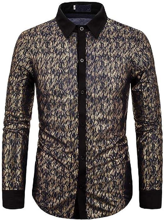 OTW Mens Classic Club Long Sleeve Floral Print Button Down Dress Shirts
