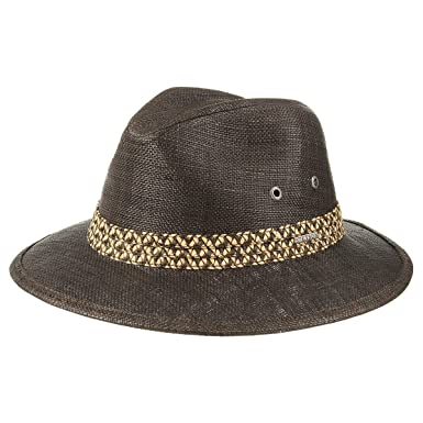 37eadbadc3553 Upland Raffia Traveller Hat Stetson straw hat men´s hat (XL 60-61 - brown)   Amazon.co.uk  Clothing