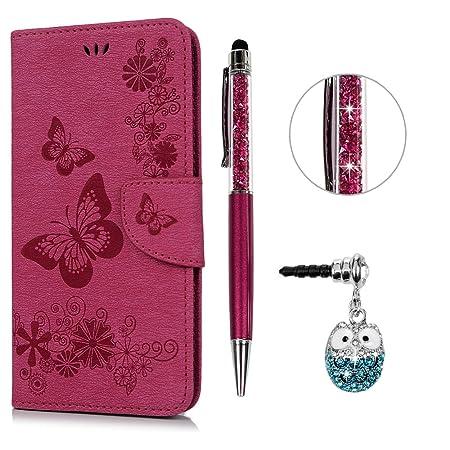 iPhone 6S Plus Hülle Leder Case,KASOS iPhone 6 Plus Handyhülle Brieftasche Book Type PU Leder +TPU Innere Tasche Bunt Gemalt