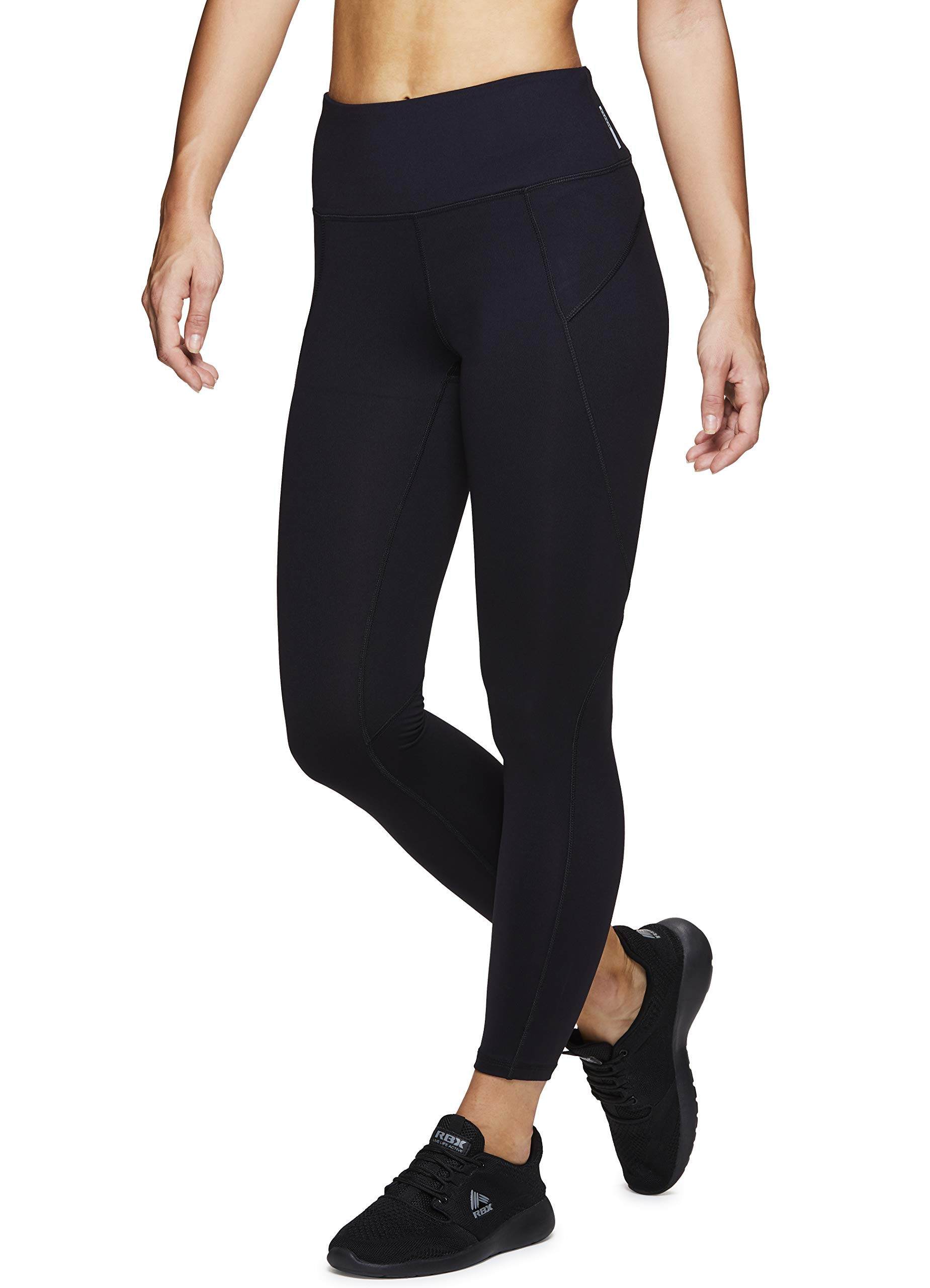 RBX Active Women's Athletic Yoga Workout Leggings Black XL by RBX