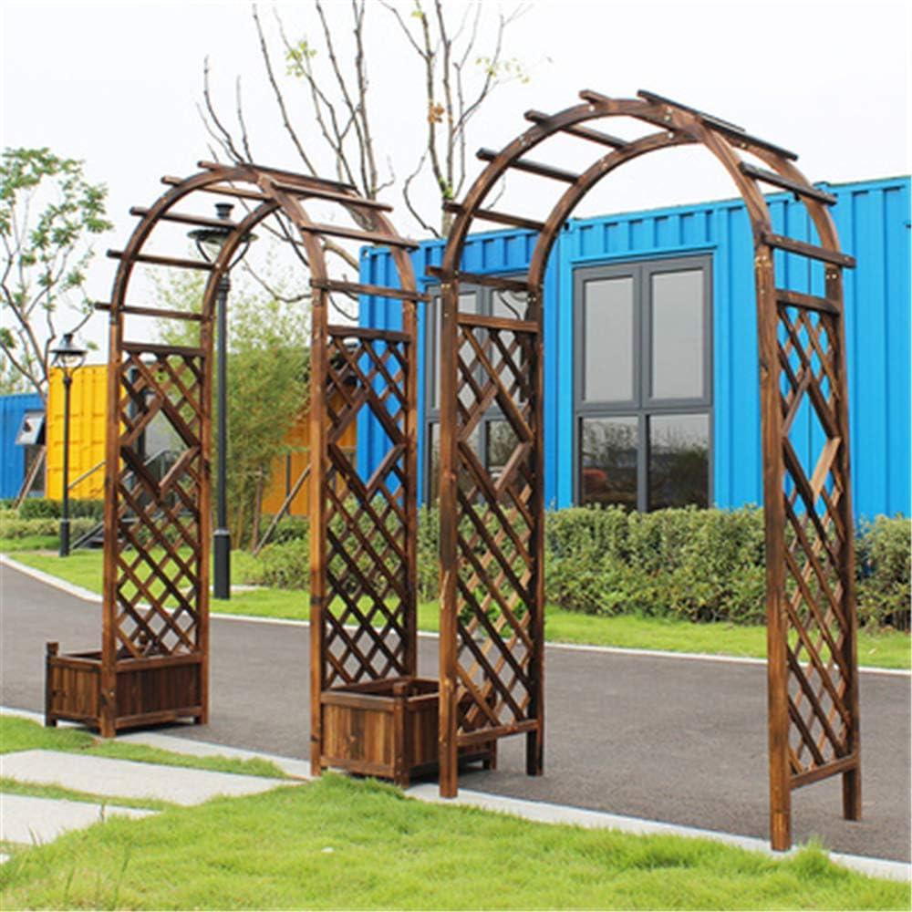 NBRTT Arco de árbol de Madera, Enrejado de Arco de jardín, Madera Natural, Puerta de Patio Exterior sólida para Escalar Bodas plantación Invernadero decoración de Fiesta Nupcial: Amazon.es: Hogar