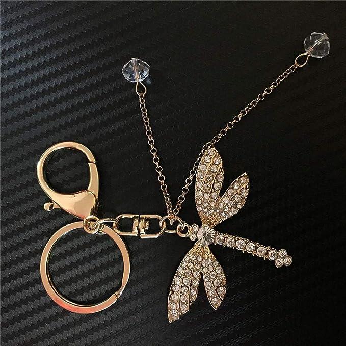 Amazon.com: Axmerdal llavero de libélula de moda joyería ...