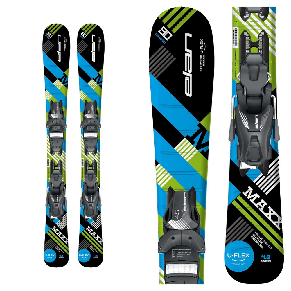 ELAN Maxx Kids Skis EL 4.5 Bindings  100cm