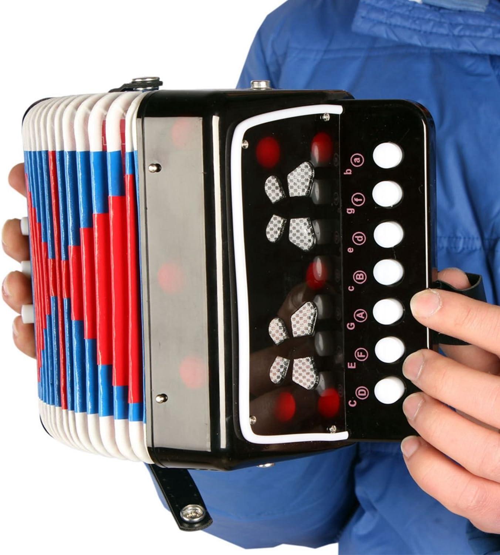 SODIAL Mini Petit Clavier dEnfants Accordeon Rythme Educatif Instrument Musical Bande Jouet pour Enfants Noir