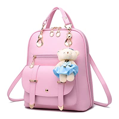 ed72b7d03901 Ladies Fashion Cross Straps Backpack Leather Shoulder School Bags ...