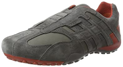 Mens Uomo Snake L Trainers, Grey Geox