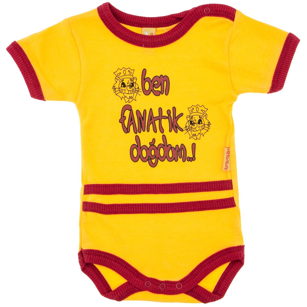 Neco Moden GalatasarayTaraftar Baby Bebek Body Badi Fanatik Sari kanarya Cim Bom Kara Kartal Galatasaray Fenerbahce (12-18 Monate)
