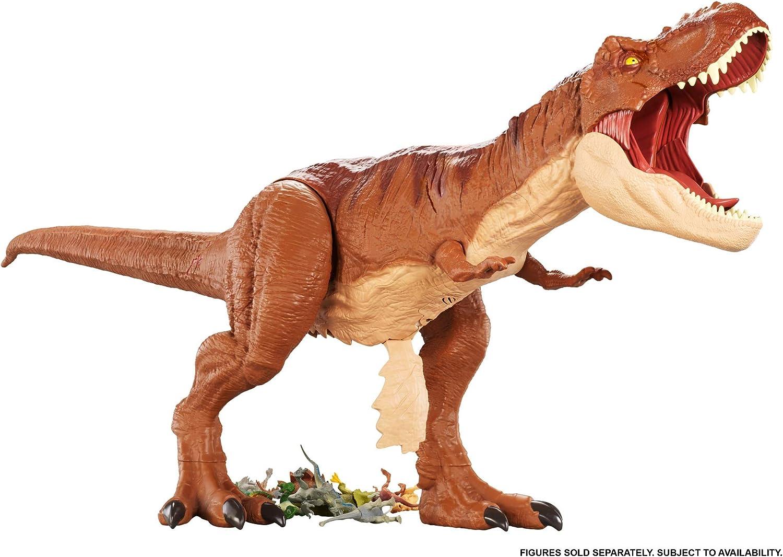 Amazon Com Jurassic World Super Colossal Tyrannosaurus Rex Toys Games Para celebrar el día de reyes 2021 nada como regalar juguetes a los niños. jurassic world super colossal tyrannosaurus rex