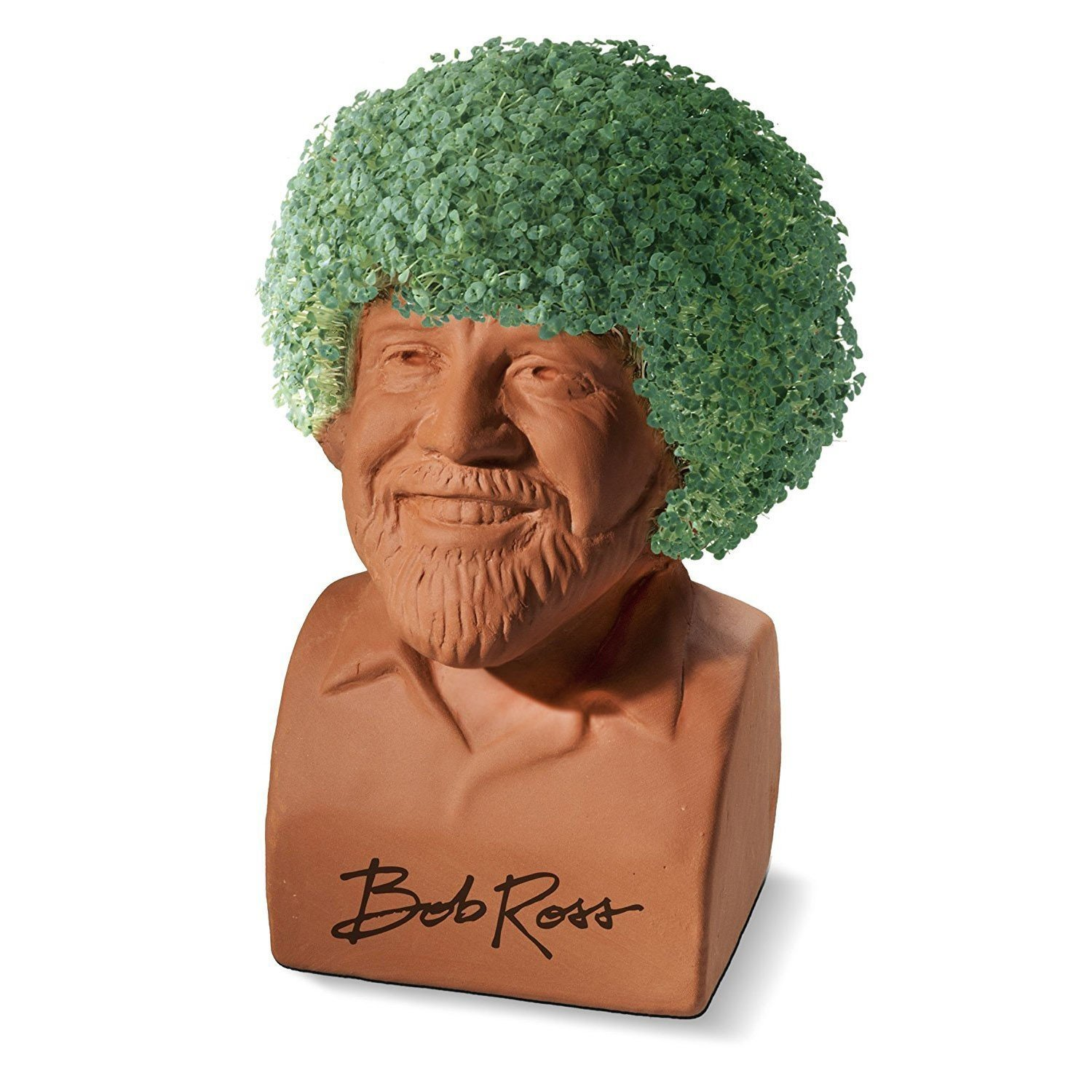 Bob Ross Chia Head - Hair Growing Planter by JOSEPH ENTERPRISES INC.