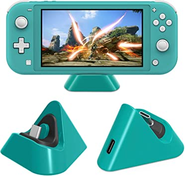 Muelle de carga para Nintendo Switch Lite, estación de soporte de ...