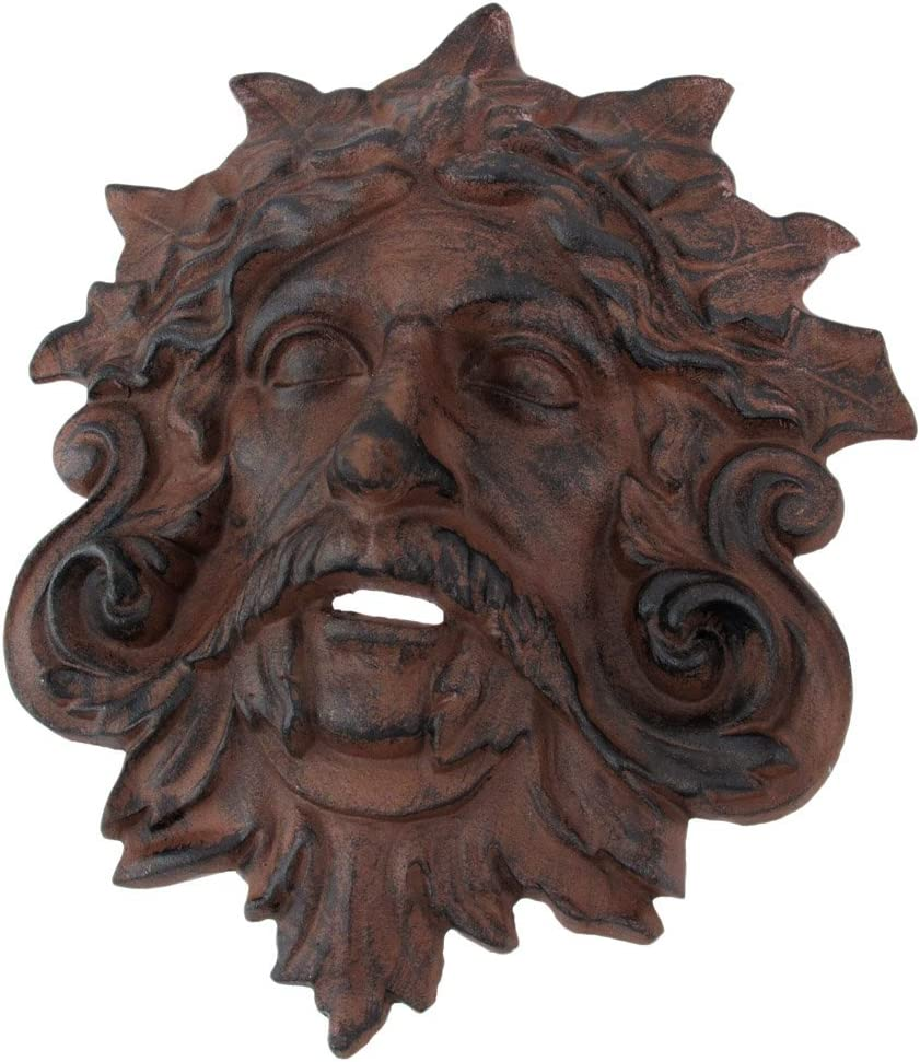 Things2Die4 Cast Iron Celtic Green Man Wall Hanging Antiqued Finish