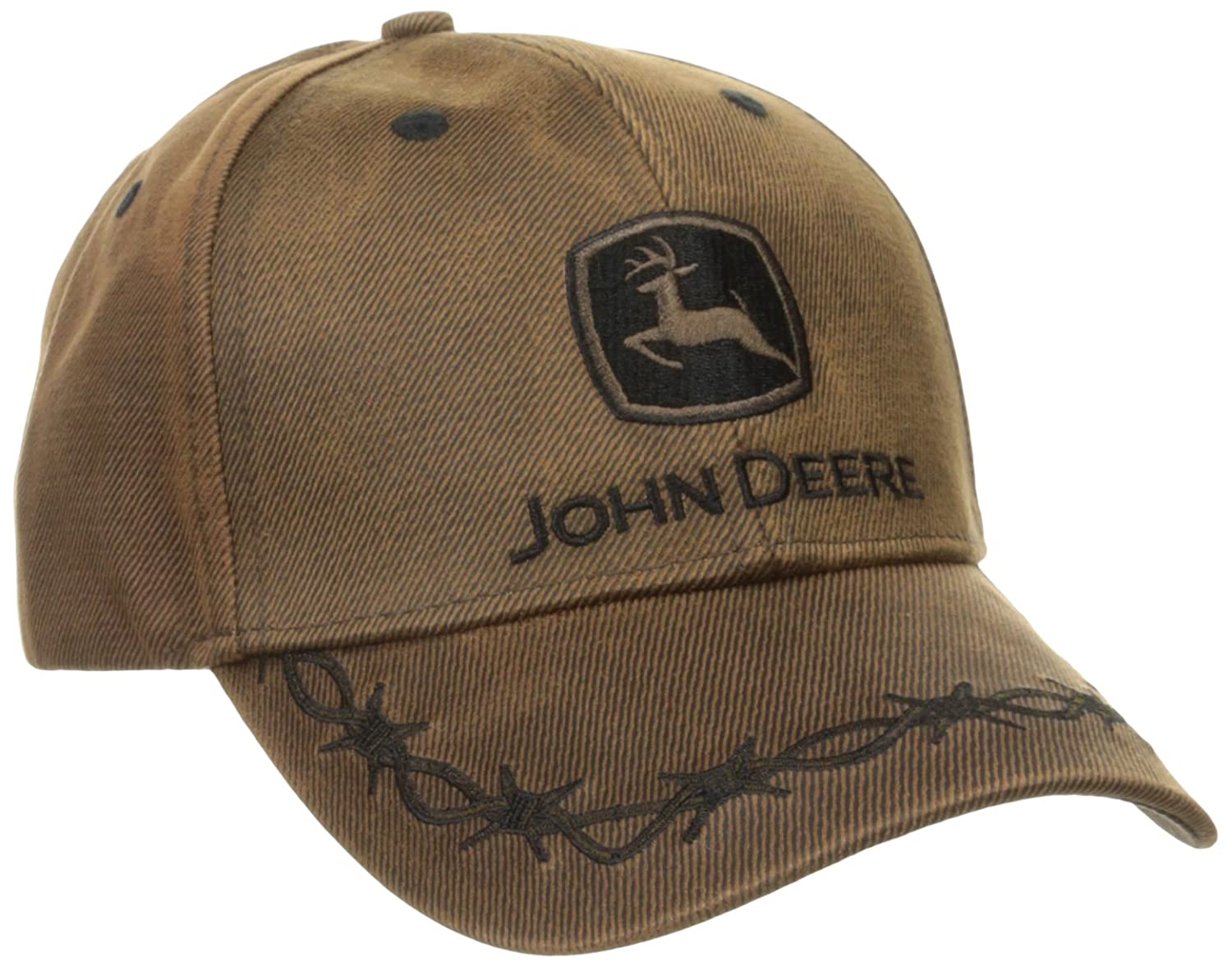 John Deere Mens Waxed Cott0n Embroidered Logo Cap: Amazon.es ...