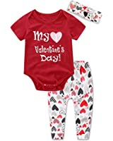 ant kinds 3pcs newborn infant baby girl romperpantsheadband valentines day outfits