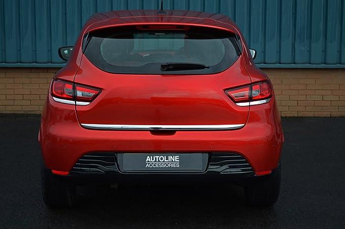 Tira de cromo para puerta trasera de portón trasero para adaptarse a Clio IV (2012+): Amazon.es: Coche y moto