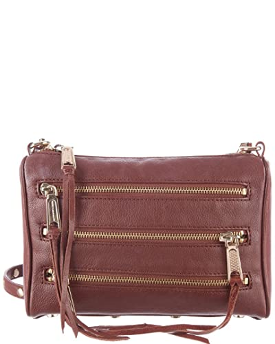 c9a7430549 Image Unavailable. Image not available for. Color  Rebecca Minkoff Mini 5  Zip Rocker Leather Crossbody Bag ...