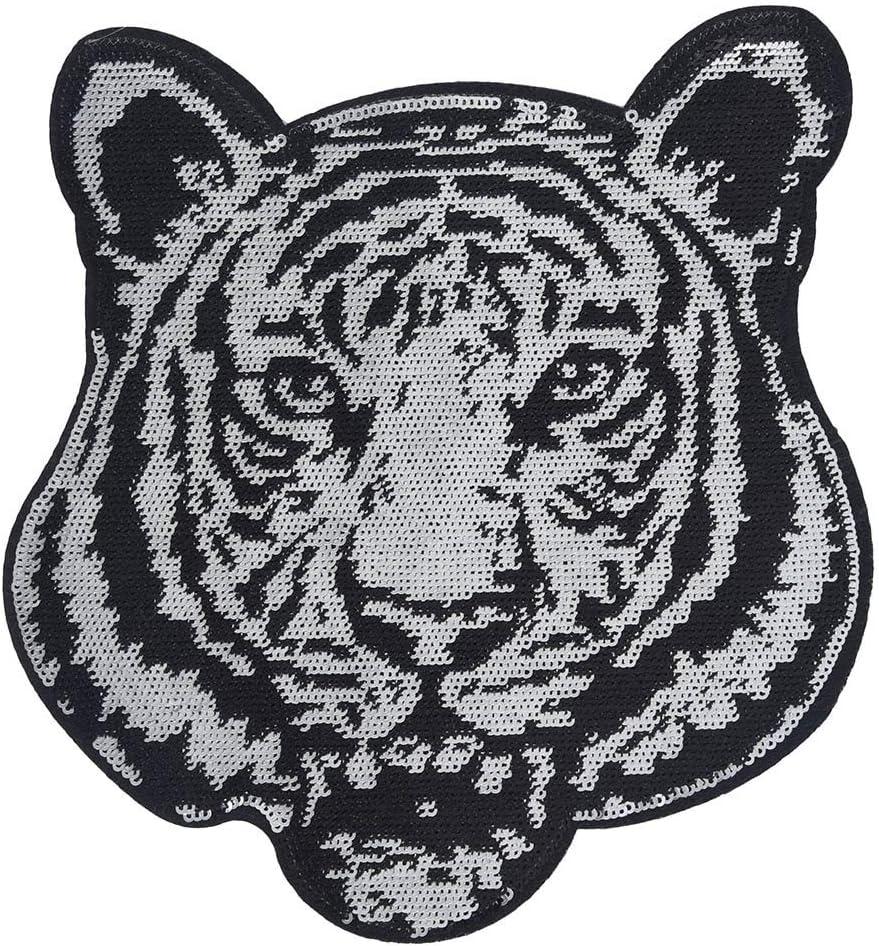 Dinglong - Pegatinas Bordadas, diseño de Tigre Bordado, para Ropa ...