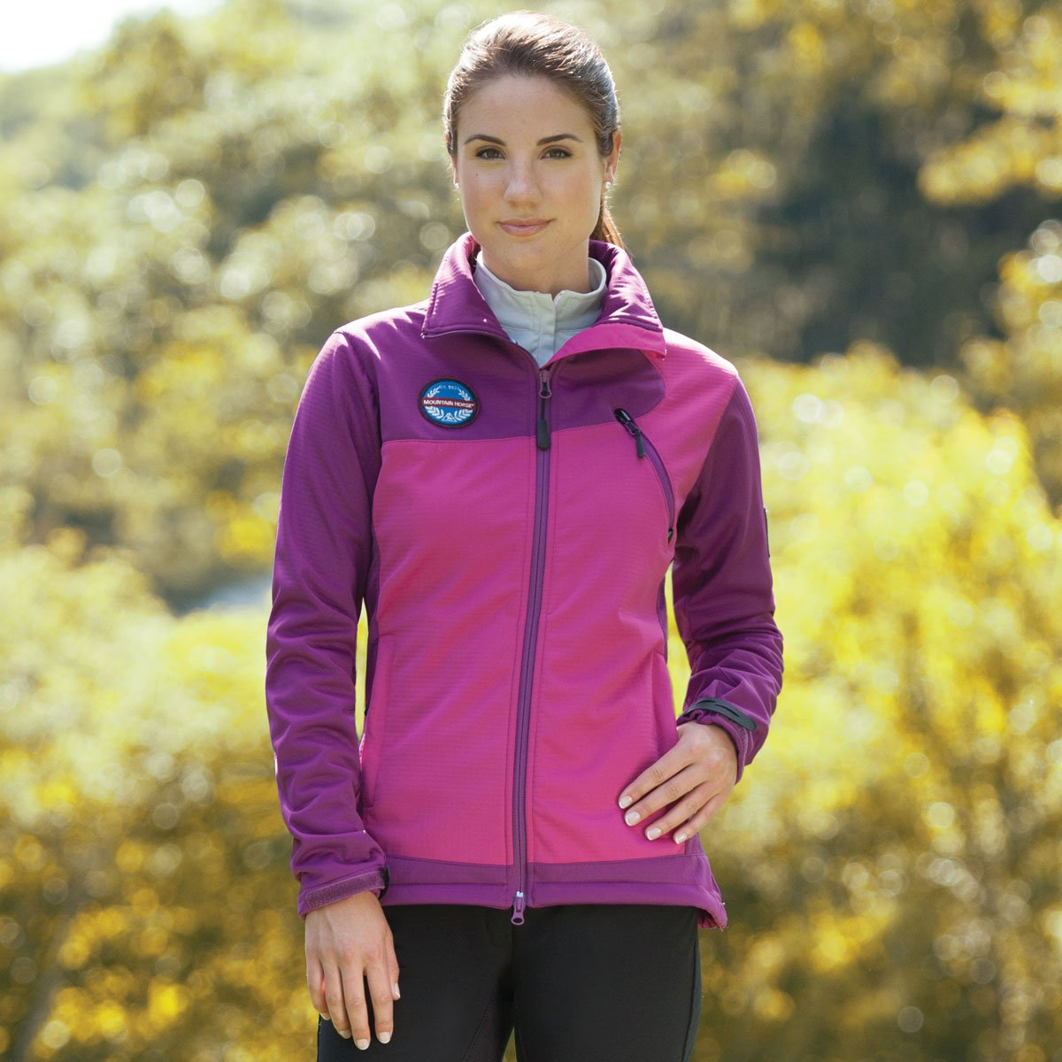 Mountain Horse Women's Cortina Softshell Jacket Purple Large US by Mountain Horse