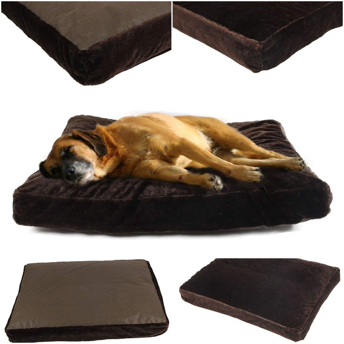 1Pcs Perfectly Popular Pet Bed Cover Size L 36'' x 29'' Dirty Protects Warm Case Cat Pillow Color Type Coffee PV Fleece