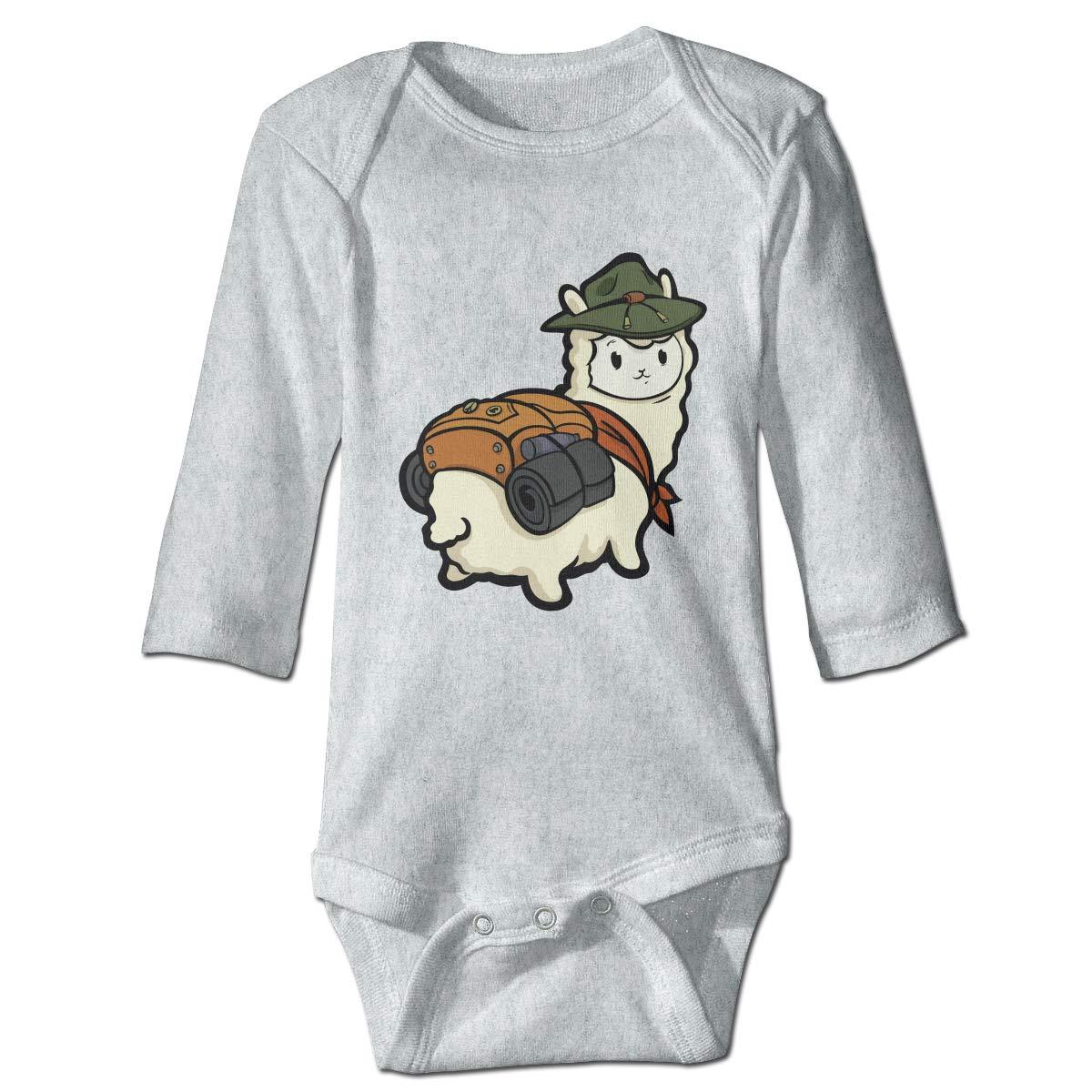 XHX Baby Alpaca with Backpack Long Sleeve Romper Onesie Bodysuit Jumpsuit