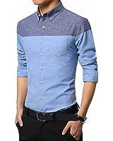 B dressy Slim Mens Dress Shirt Long Sleeve Men's Business Shirts Slim Fit Fashion Style Shirt M-5XL Cool
