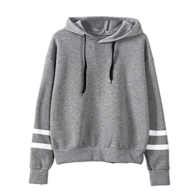 Amazon.com: Womens Long Sleeve Hoodie Sweatshirt Parchwork Jumper Round Neck T-Shirt Hooded Pullover Tops Blouse Summer Autumn Clothing: Clothing
