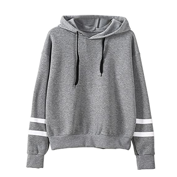 Goosuny Damen Langarm Pullover Mit Kapuze Rundhals Ausschnitt T-Shirt Lose  Bluse Hemd Oversize Sweatshirt 9793bceba2