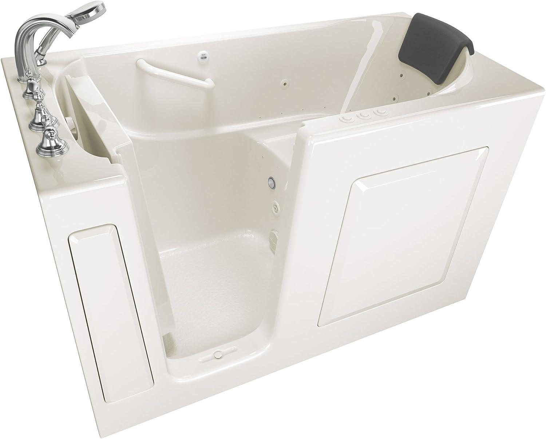 "American Standard 3060.109.CLL Gelcoat Whirlpool and Air Spa 30""x60"" Left Side Door Walk-In Bathtub in Linen"