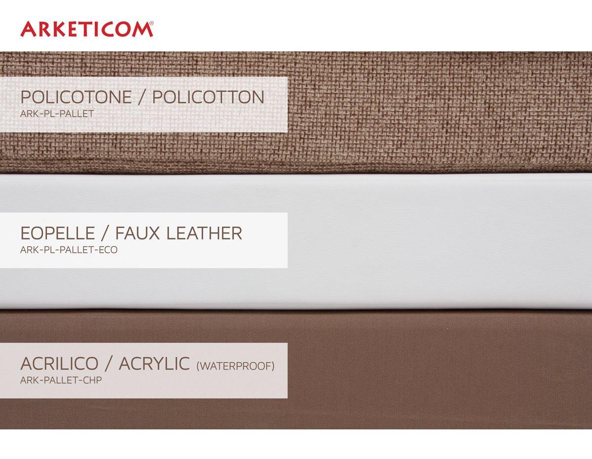 Arketicom Coussin Palette Assise Matelas Canape Poliurethaine 80x60x10 Orange