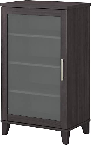 Bush Furniture Somerset Media Accent Cabinet, Storm Gray