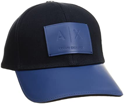 5dfcd4cecf121 Amazon.com  Armani Exchange Men s Logo Patch Baseball Hat