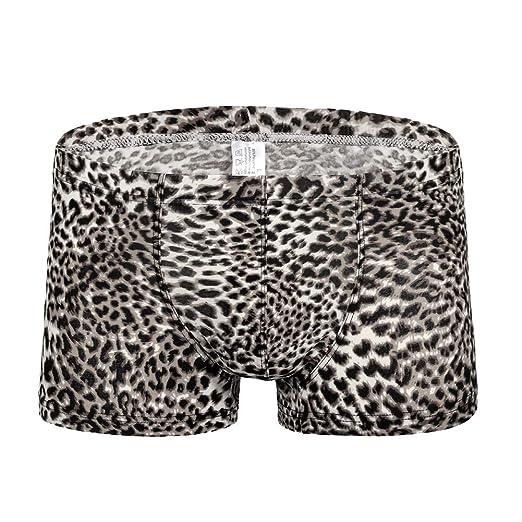 4eb163862b1a2a K-Men Hot Men's G-String Leopard Print Thong Comfort Hot Low Raise Underwear