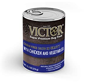 Victor Grain Free Cuts in Gravy with Chicken and Vegetables Stew