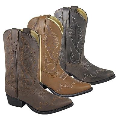 Smoky Mountain Boys' Lasso Western Boot Snip Toe