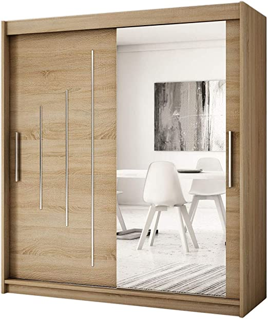 Kryspol York - Armario con Puertas correderas (2-150 cm, con Espejo), diseño Moderno: Amazon.es: Juguetes y juegos