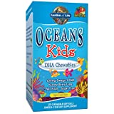 Garden of Life Ultra Pure EPA/DHA Omega 3 Fish Oil - Oceans 3 Oceans Kids Dietary Supplement with Antioxidants, 120 Chewables Softgels