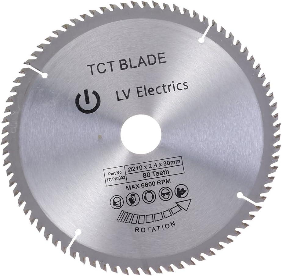 UKCOCO Hoja de Sierra Circular de aleación de alta calidad herramientas rotativas 210x2.4x30MM (80 dientes)