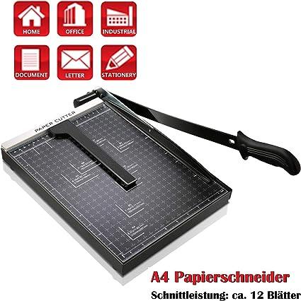 5in1Profi Schneidebrett Hebelschneider Papierschneider bis 10 Bl Fotoschneider