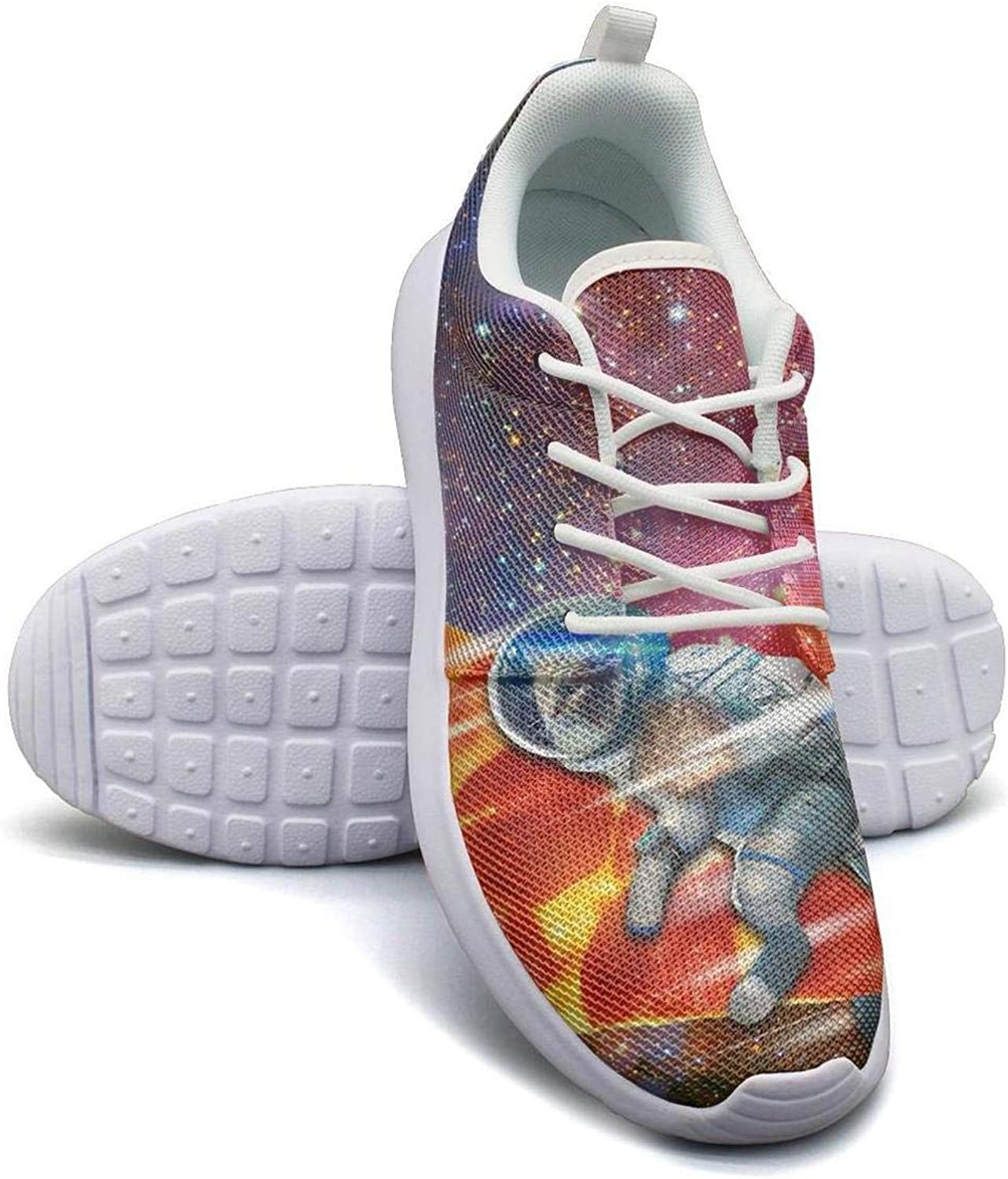 Galaxy Space Cat Protect pizza Boy Sneakers for Men Fashion Breathable Casual Shoes