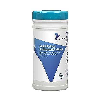 Serenity Hygiene Toallitas antibacteriales para superficies calificación NHS de Serenity Hygiene, libres de alcohol,