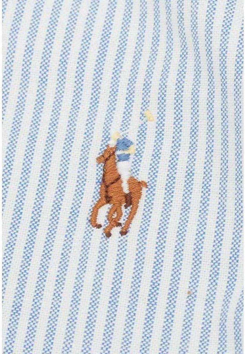 Ralph Lauren Men's Slim Fit Bd Ppc Dress Shirt Blue (Bsr Blue/White C41d6)