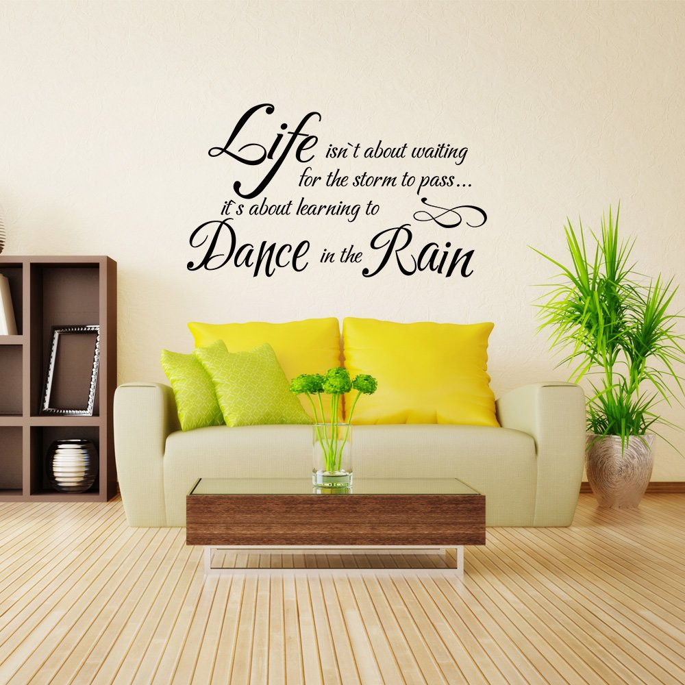 Amazon.com: Dance In The Rain Inspirational Vinly Wall Decal ...