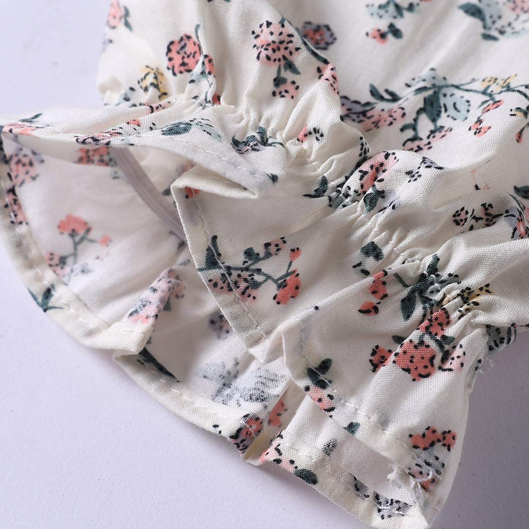 Colorful Childhood Vintage Baby Girls Floral Blouse for Spring Autumn Casual Ruffles Collar Flower Long Sleeve Shirt Tops
