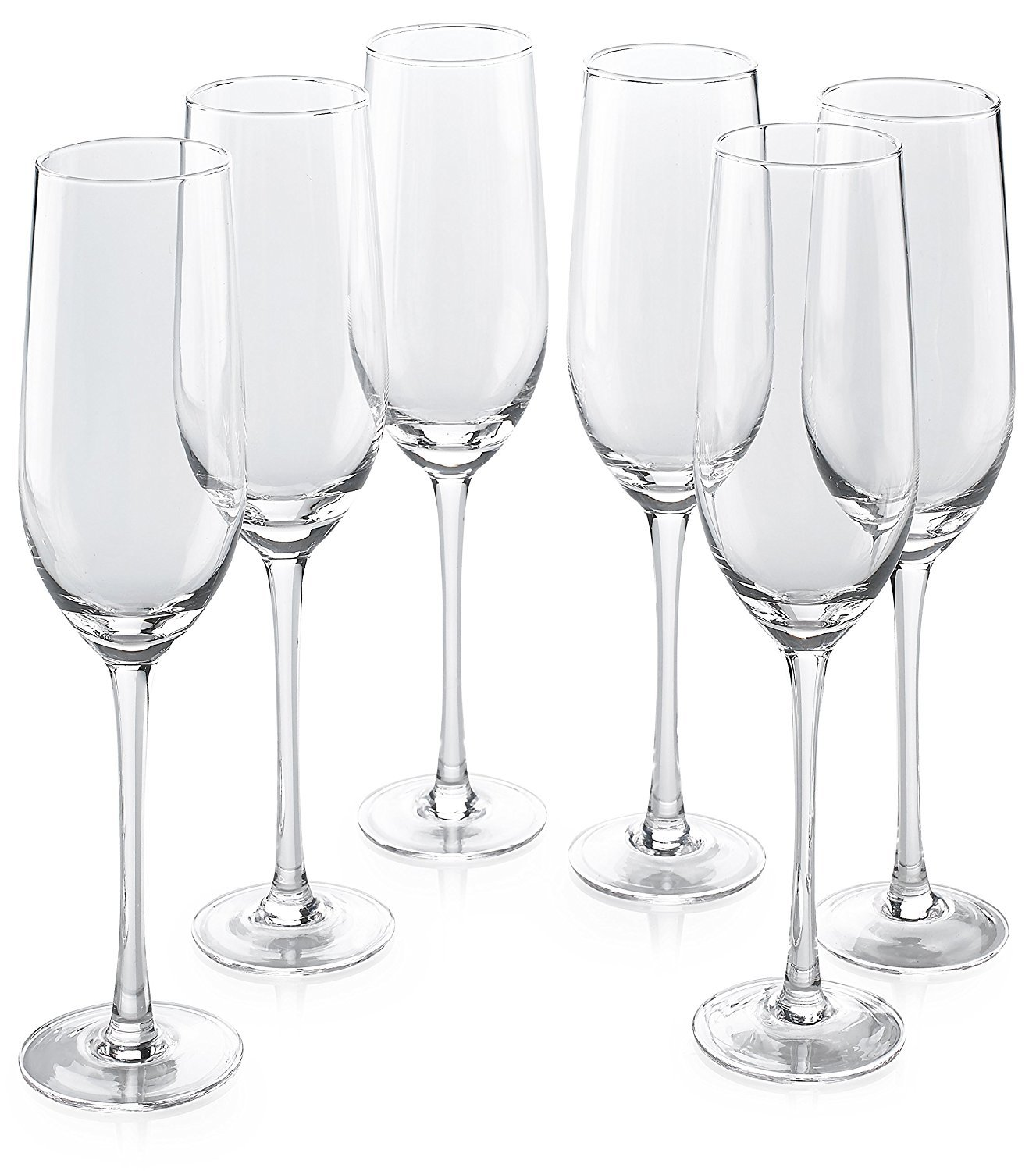 Classic Flute Champagne Glasses (10 Ounce) - Toasting Sparkling Wine/Wedding Flutes