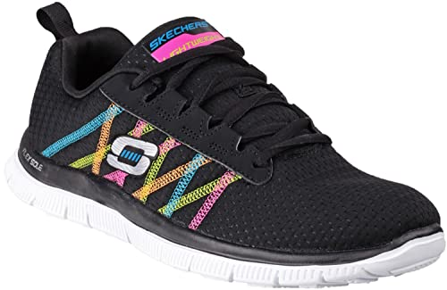 Skechers Ladies Sk11885 Sports Flex Appeal Something Fun Trainers Black  multi 3